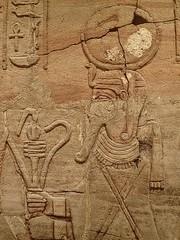 Closeup of relief on the Shrine of the 25th dynasty pharaoh and Kushite King Taharqa  Egypt 7th century BCE (7) (mharrsch) Tags: architecture temple worship shrine god unitedkingdom religion egypt oxford 7thcenturybce myth deity basrelief ashmoleanmuseum taharqa lateperiod 25thdynasty mharrsch
