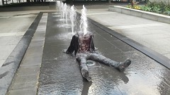 Headless Man in Fountain Video | Square Victoria, Montreal (Exile on Ontario St) Tags: montral fountain decapitated headless disembodiedhead body montreal fontaine water publicart installation silly surprising eau publique jetwater jet jets waterjet jetdeau jetsdeau squarevictoria quartier international district placevictoria shocking victoriasquare place square victoria urban urbain ville city vieuxmontral oldmontreal summer t person human clothes art public artpublic sitting drenched mouill wet tremp soaked soak vtements dcapit sans tte missing drench disembodied corps tronc squirting squirt sprinkler neck cou tranch coupe tt chopped kid child enfant glasses video