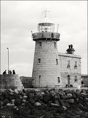 Howth Lighthouse (NIKKI O BRIEN) Tags: monochrome mono blackandwhite beach sea lighthouse howth dublin ireland em5 olympus