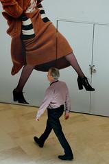 step by step (jolantamazur) Tags: man walking woman legs steps shoppingmall model fashion monochromatic