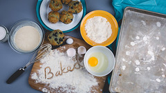 179A4595-1 (den_ise11) Tags: fourth july holiday baking kitchen studio photography alienbees softbox blueberry muffin muffins basket lighting gray black background shadows baked whisk egg flour bake setup fruit fresh made homemade fisheye canon nikon 15mm 35mm