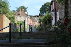 Going up Church Hill (Davydutchy) Tags: hythe kent uk truk tatra register walk wandeling spaziergang churchhill flower basket bloembak july 2016