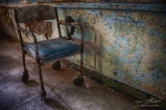 Sidelined (Linda O'Donnell) Tags: pennhurstasylum coolabandonedplacesinamerica desertedplaces abandonedamerica leftbehind ue uer historian stories art exploreusa urbex urbanexploring moderndayexplorers undercity rurex rural ninja infiltration guerilla artisticphotography debris decaying rust patina weathered rustic nostalgia bokeh effect photography background shallowdepthoffield dof nikond750 hdr highdynamicrange images bracketing camera pov differentpointofview abandonedplacesinpennsylvania lindanjo6 lindaodonnell chair restraints