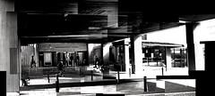 PNCC Entrance (Tehau) Tags: blackandwhite urban architecture manawatu palmerstonnorth building joiner photomontage photocollage