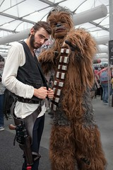 Harrison Ford and Chewie (l plater) Tags: harrisonford hansolo chewbacca chewie starwarsuniverse 2016ozcomiccon cosplay