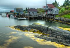 Blue Rocks, Nova Scotia (leomacdonald) Tags: bluerocks novascotia canada themaritimes lunenburg ocean atlantic fishing village sheds explore rustic bay inlet boats sonya7 heckmansisland sea seaweed yellow dory dinghy