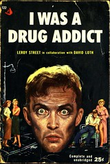 Pyramid 122 (1954). First Printing. Cover by Julian Paul (lhboudreau) Tags: book books bookcover bookart vintagepaperbacks vintagepaperback paperback paperbacks vintagepaperbackart paperbackart coverart vintagepaperbackcovers paperbackbook paperbackbooks paperbackcover paperbackcovers drug drugs drugaddict addiction iwasadrugaddict leroystreet davidloth cocaine heroin opium truestory face stare eyes firstprinting julianpaul 1954 pyramid pyramidbook pyramidbooks pyramid122 pyramidbook122 blankstare drugaddiction portrait