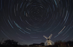 Llynnon Mill Star trails (traceysnelus) Tags: startrails astronomy astrophotography nightsky nightscapes nightscape northstar stars mill windmill llynnon anglesey isleofanglesey polaris