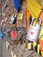 Love Locks (lindscatt) Tags: london art love fence gate arty artistic lock hipster shoreditch locks hip symbols padlock locked symbolic eastlondon lovetoken boxpark shoreditchboxpark