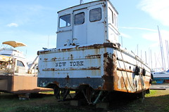 Old Rusty (truthinpassingx) Tags: old newyork marina boat newjersey jerseycity nj rusty libertypark