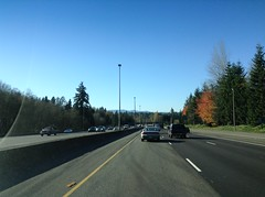 Seeing the State Capitol on the Horizon on I-5 South in Olympia, WA 11-11-14. (vannmarcus932) Tags: i5 olympia wa