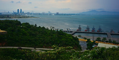Da Nang, Vietnam (free3yourmind) Tags: city sea panorama river view navy panoramic vietnam danang sontra