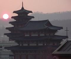 SEOUL GYEONBOKGUNG PALACE SUNSET (patrick555666751) Tags: gyeonbokgung palace seoul south korea coree du sud asie asia sunset soleil couchant east corea del coreia do sul zuid sur