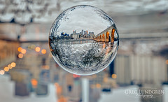 City in a Ball (Greg Lundgren Photography) Tags: urban skyline river downtown cityscape minneapolis mississippiriver riverfront twincities crystalball milling stonearchbridge greglundgren