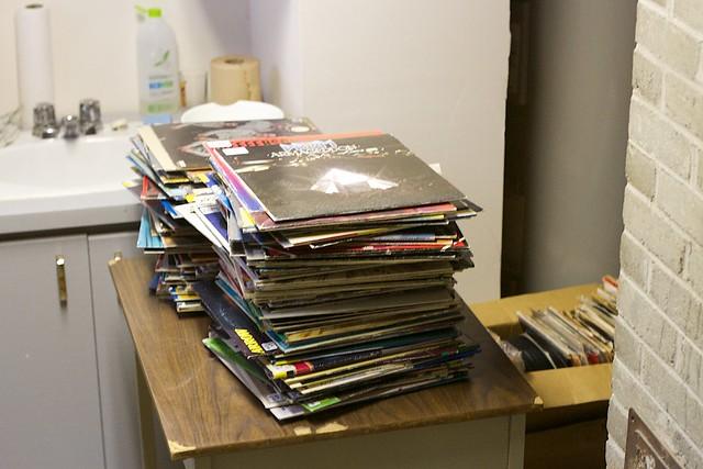 Vinyl Storage in the Kitchen