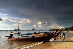 Before the thunderstorm (PeterCH51) Tags: thailand krabi klongmuang beach evening light sea coast seashore seascape scenery landscape peterch51 thunderstorm longtailboats iphone inexplore explored explore