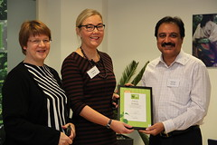 CEO WWF Finland - Liisa Rohweder & Helka Julkunen Head of Worldwide Green Office Program - presenting the BEST GREEN OFFICE COORDINATOR Award / Diploma to Wajid Hussain Junejo at a ceremony held in Helsinki Finland (Green Office Engro) Tags: world pakistan green finland corporate office general dr social corporation responsibility german say ozone liisa trade protection nunn investment lissa cyril wwf engro consulate hussain tilo helka wajid junejo fertilizers klinner ukti rohweder gpti pgbf