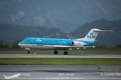 KLM - PH-KZB - Fokker 70 (Aviation & Maritime) Tags: norway bergen klm fokker flesland bgo fokker70 royaldutchairlines enbr koninklijkeluchtvaartmaatschappij phkzb bergenlufthavnflesland bergenairportflesland
