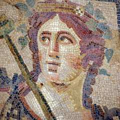 Blushing boy (Ephesus, Turkey) (armxesde) Tags: turkey ruins pentax mosaic trkei ricoh ephesus ruinen anatolia seluk efes k3 ephesos anatolien anadolu hanginghouses