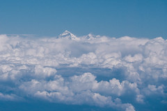 Mt. Everest 8848m - seen out of a planes window (phhesse) Tags: world nepal oktober mountain window berg plane airplane mt fenster olympus mount himalaya airlines der flugzeug everest omd highest welt 2014 mteverest biman em10 8848m hchster