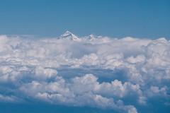Mt. Everest 8848m - seen out of a planes window (phhesse) Tags: world nepal oktober mountain window berg plane airplane mt fenster olympus mount himalaya airlines der flugzeug everest omd highest welt 2014 mteverest biman em10 8848m höchster