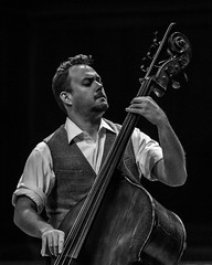The bass (monochrome) (.Chris Lee) Tags: people blackandwhite bw musician music monochrome musicians person blackwhite nikon bass monochromatic instrument strings grayscale fullframe nikkor fx ff greyscale doublebass d800 quintet 70200mm nikkor70200mm nikond800 nikonfx sybarite5