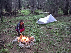 the night a wolf visited our camp in the enchanted forest (ma vie en rouge) Tags: fire washington unitedstates campfire backpacking pacificcresttrail pct thruhike sobo northerncascades okanogannationalforest ashleyhill mouseworks yamamountaingear myamadventure pctclassof2014