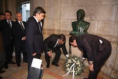 4 dezembro - Entrega coroa de flores na Assembleia da República