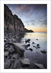 ANVIL (SwaloPhoto) Tags: sunset zeiss canon scotland rocks fife availablelight cliffs northsea beacon navigation ze firthofforth estuaries aberdour topazlabs leefilters hawkcraigpoint distagont2821 eos5dmkii distagon2128ze denoise2 09ndproglass adjust5 grungeme 09gnds bandsofvenus