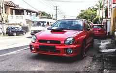 Subaru Impreza (Aadil Chouji Schiffer) Tags: red eye cars car japan bug japanese sri lanka subaru boxer modified custom impreza wrx sti   colombo jdm bugeyed flat4 kotte imprezza