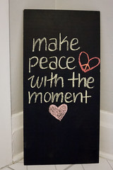 make peace with the moment (jojoannabanana) Tags: handwriting chalk peace heart mindfulness chalkboard 3652014