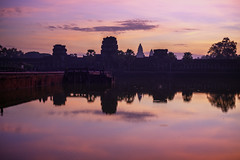 Outside Angkor Wat for Sunrise