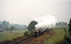 LMS Jubilee  5596 'Bahamas' at All Stretton. Oct'72. (David Christie 14) Tags: jubilee bahamas lms allstretton