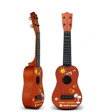 New Childrens Kids Beginners Acoustic Musical Toys Small Mini Guitar Gift BrownB-Cool