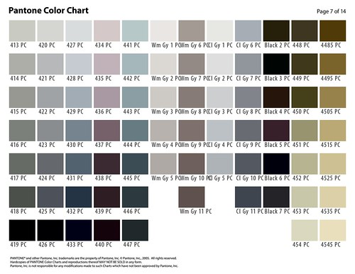 Pantone Color Selection Chart Page 7 A Photo On Flickriver