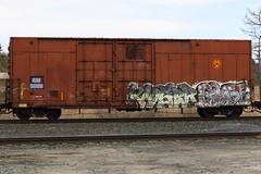 Voser Goose (BombTrains) Tags: road railroad art train bench graffiti am paint tag graf rail spray goose graff freight fsr fr8 3009 benching voser