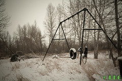 snow day (DKG Images) Tags: life wood winter snow canada canon time decay joy damien explore age alberta past goodyear pastime lostworld dkg turnervalley explored dkgimage dkgimages