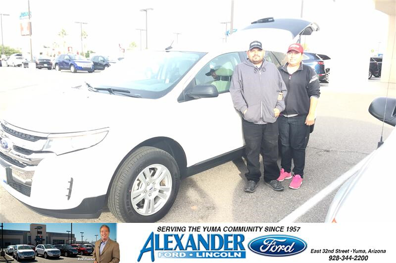 Congratulations To Mario Garcia On Your Purchase From Armando Valencia At Bill Alexander Ford