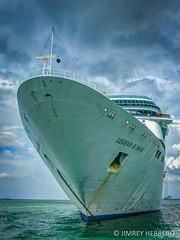 Legend of the Seas (jimrey_herrero) Tags: ocean cruise blue sea sky canon dark singapore asia ship powershot filipino pinoy a480