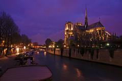 Darkness descending on Paris