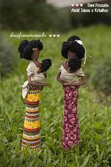 Eu slingo, elas slingam. (Dani_Fressato) Tags: doll handmade sling boneca patchwork negra trabalhomanual ideias retalhos danifressato