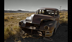 You Picked A Fine Time to Leave Me, Lucille (Whitney Lake) Tags: 1948 abandoned rust desert decay nevada chrysler plusbonussmokingvolcanoinbackground