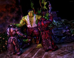 Smashing the Horde (BrickSev) Tags: fiction game toy toys actionfigure photography book video fight war comic action indoor books battle super games science diamond videogames actionfigures hero comicbook figure superhero scifi comicbooks videogame sciencefiction heroes collectible superheroes hulk marvel gears figures theron diorama collectibles tabletop select sentinel savage crossover neca toyphotography gearsofwar savagehulk