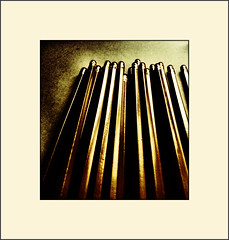 Pencil abstract (Bob R.L. Evans) Tags: abstract vertical print pattern symbol symmetry write ipadphotography