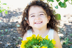 Gianna_0162 (Ciara*) Tags: girl kid toddler smiles cutie niece sunflower