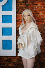 in leo's shirt (photos4dreams) Tags: female toy actionfigure doll action swedish blond figure blonde 16 spielzeug seamless puppe agnetha weiblich actionfigur photos4dreams photos4dreamz p4d phicenbody inthebathroomp4d