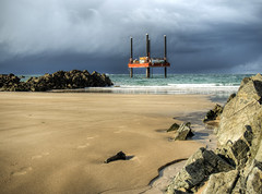 Rig in Corbletts Bay after a storm, Alderney (neilalderney123) Tags: landscape rig alderney stormcloud corbletts 2016neilhoward