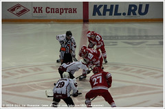 Puck drop Spartak Moscow vs Dinamo Riga |     vs   (Dit is Suzanne) Tags: img2611 27092015 rusland russia   moscow moskou ditissuzanne canoneos40d sigma18250mm13563hsm ijshockey icehockey eishockey     spartakmoscow dinamoriga  rgasdinamo seizoen20152016 season20152016 20152016 khl   kontinentalhockeyleague availabelight beschikbaarlicht luzhnikismallsportsarena  luzjniki 27 forward   strmer  vyacheslavleshchenko 51  grigoryshafigulin grigorischafigulin grigorichafigouline grigorijsafiguins grigorijszafigulin 69  lukradil 19  mielisrdlihs mikelisredlichas  43  timsestito 87  gintsmeija guntismeija  views100