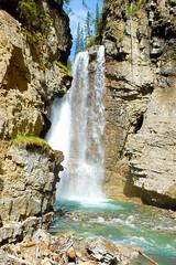 Upper Falls (Danny Jim) Tags: canada mountains nature rock waterfalls banff johnstoncanyon