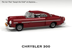Chrysler C-300 (1955) (lego911) Tags: auto classic hardtop 1955 car model lego render corporation 1950s chrysler 300 cad povray moc ldd miniland c300 foitsop cpupe lego911